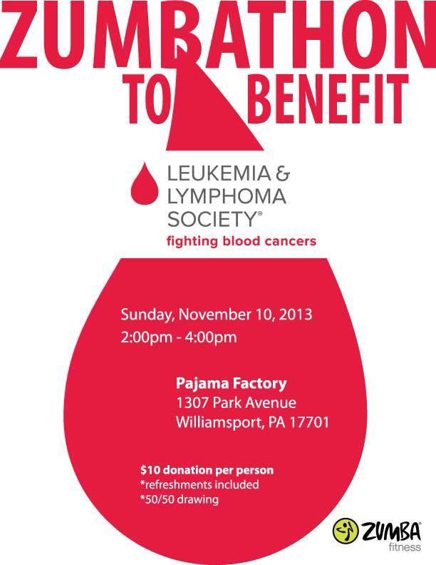 Zumba marathon to benefit the Leukemia