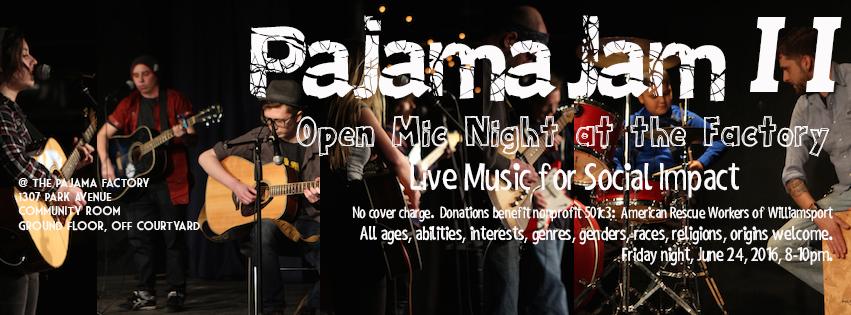 PajamaJam II - June 24, 8-10pm