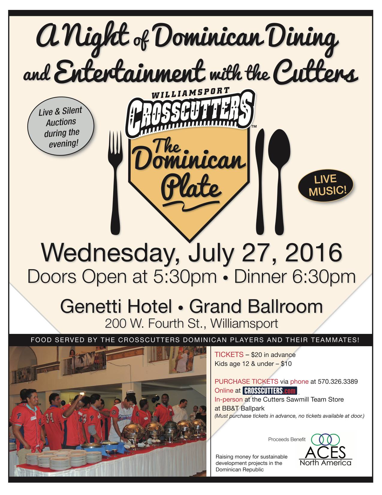 ACES 2016 benefit Wed., July 27, 2016 – 5:30pm
