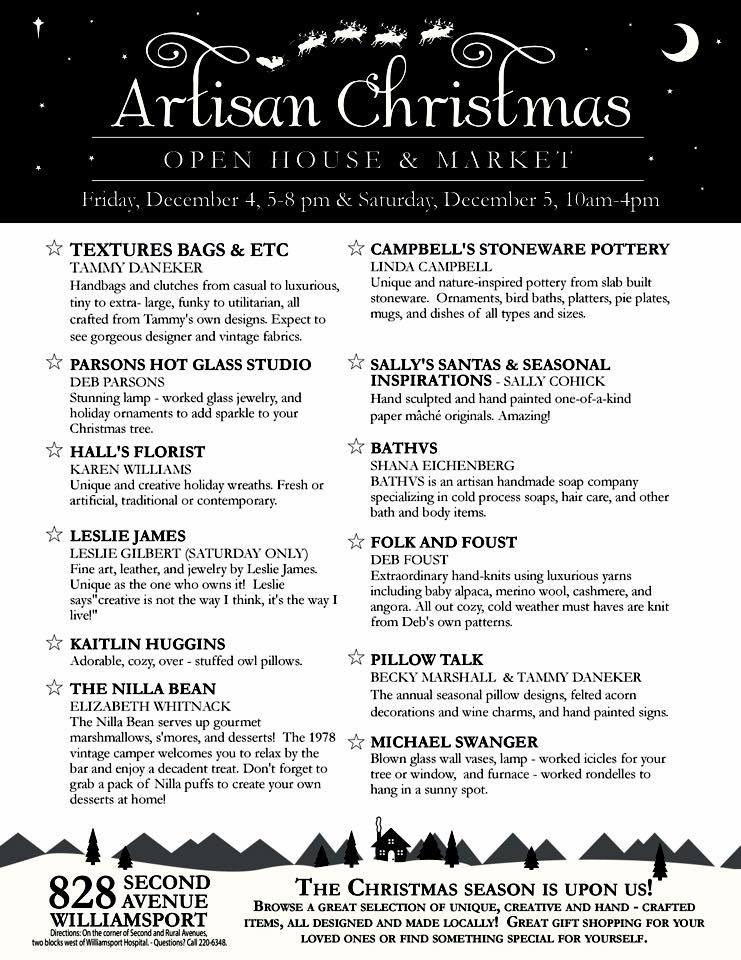 Artisan Christmas Open House & Market