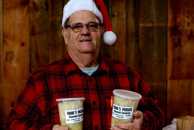 Frank makes the best 'kraut in the area