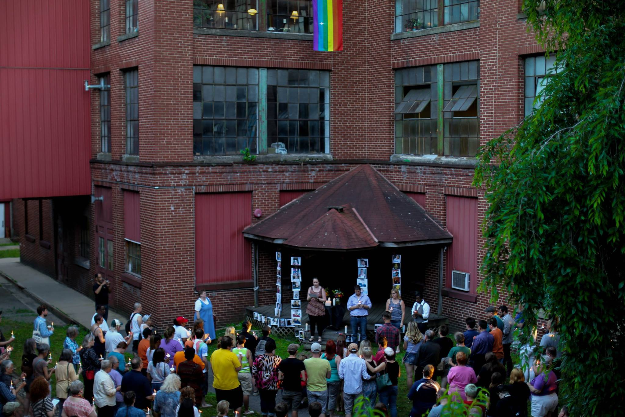 Spectrum Alliance Vigil at the Pajama Factory