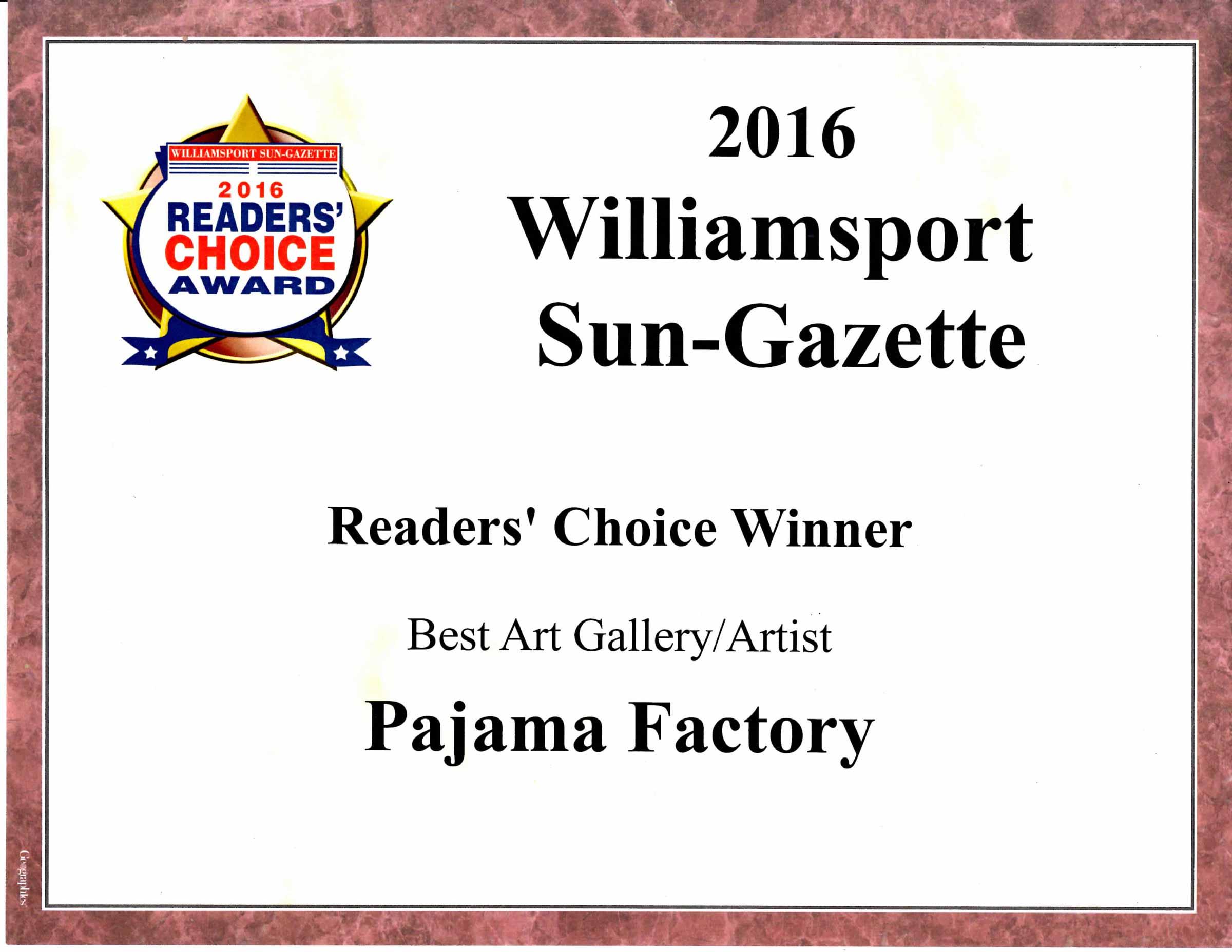 SunGazette -Reader's Choice Winner